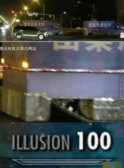 Illusion 100 - meme