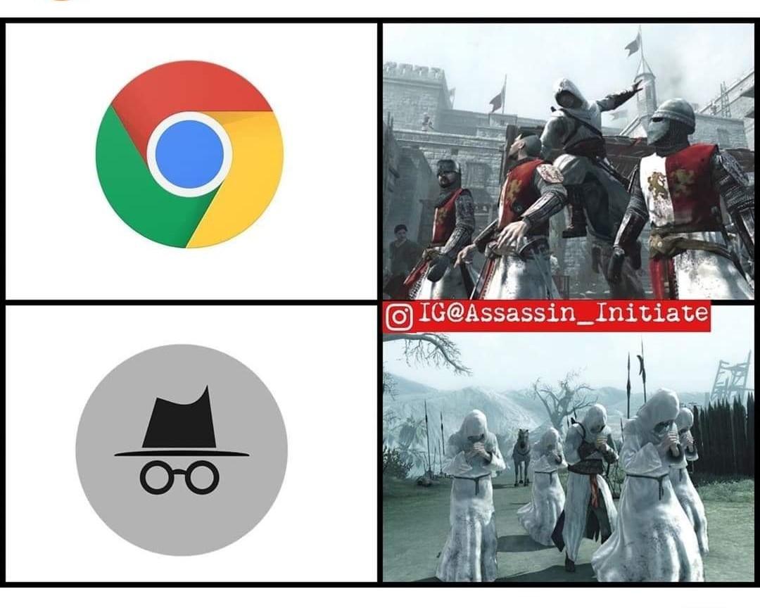 Hidden. (Source : IG assassin_initiate) - meme
