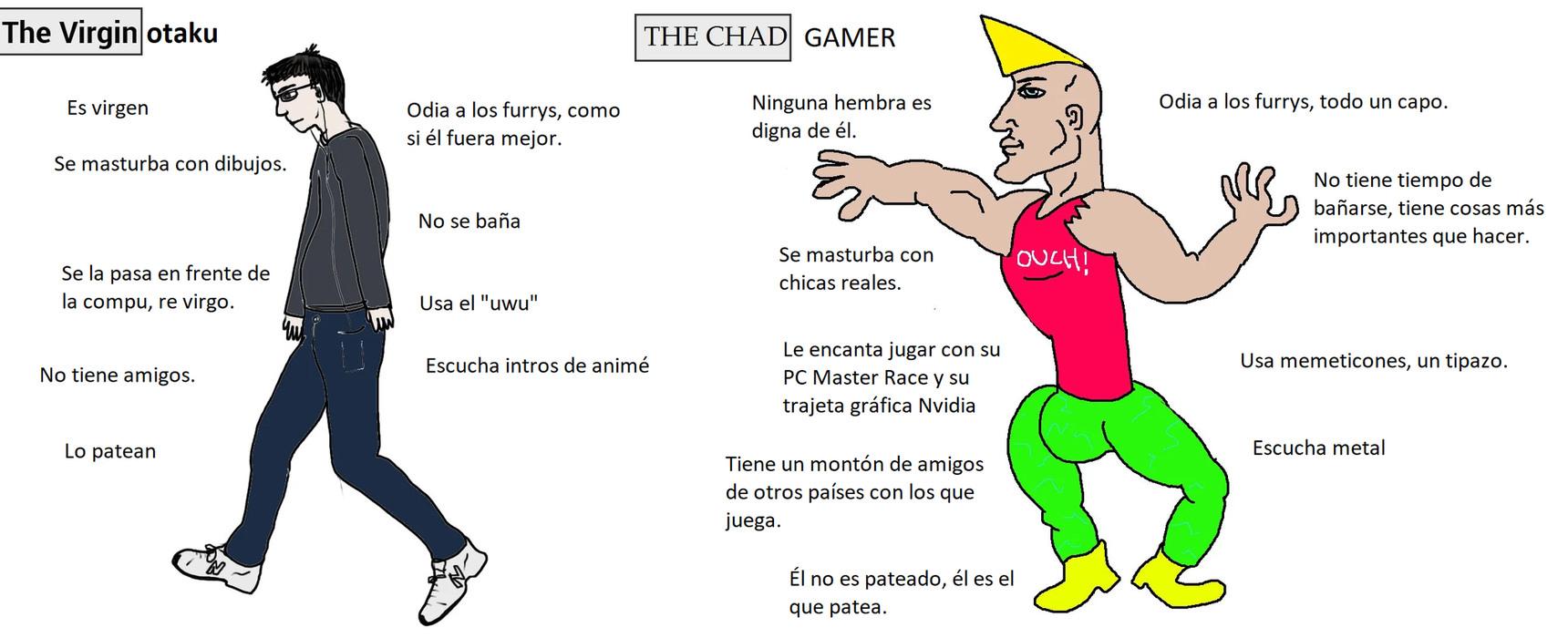 Un capo, el gaymer - meme
