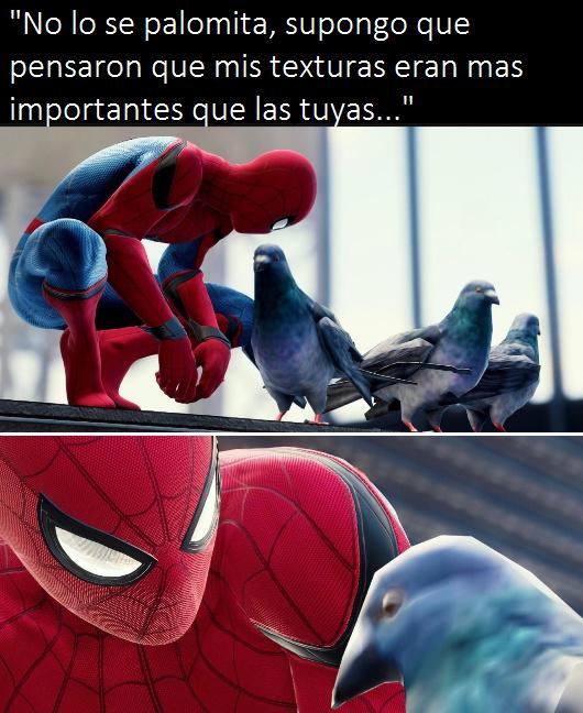 no mames, eligieron las nalgas de Spider-Man antes que palomita >:( - meme