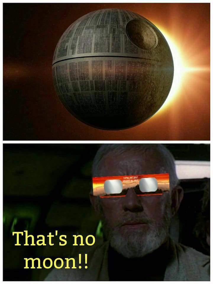 Thats no moon - meme