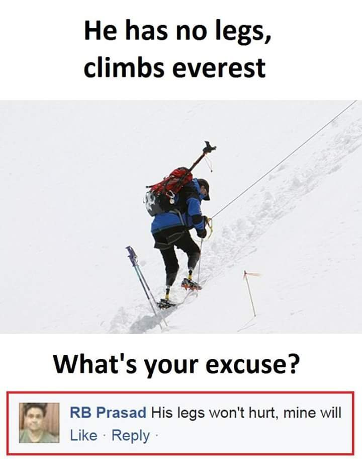 Climbing the Everest - meme