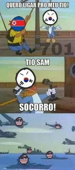 Tio Sam ajudou os coreanos - meme