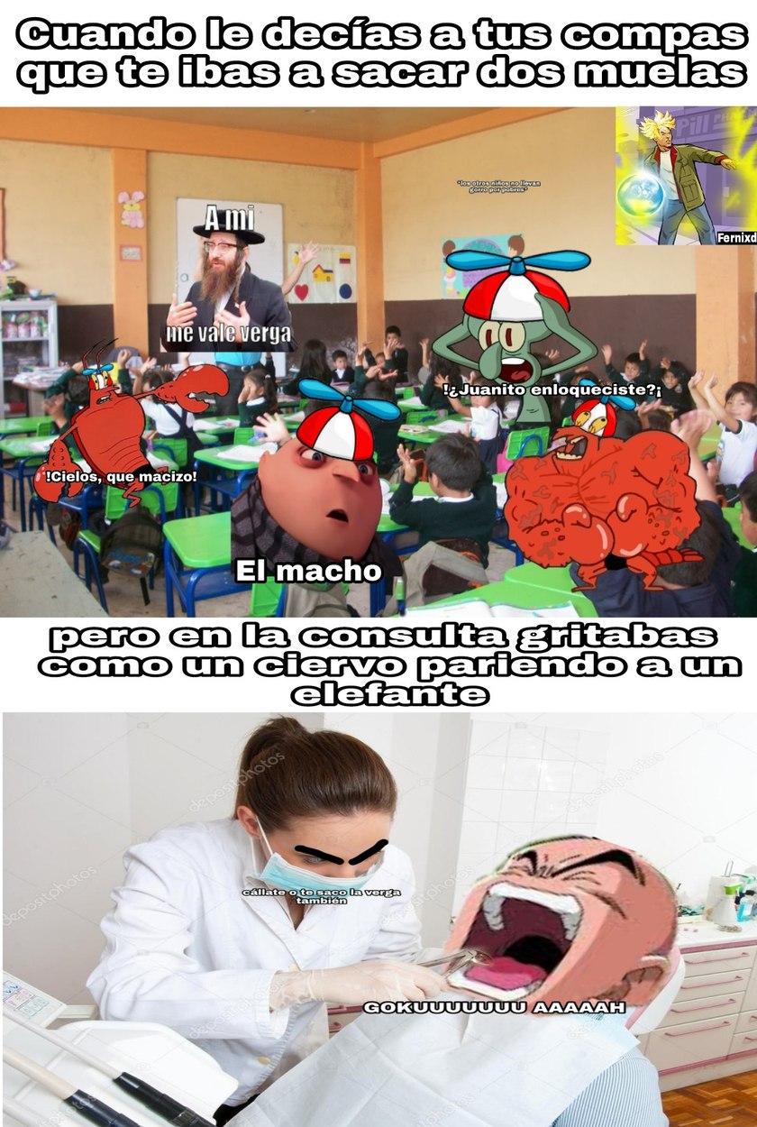 Odio a los dentistas - meme