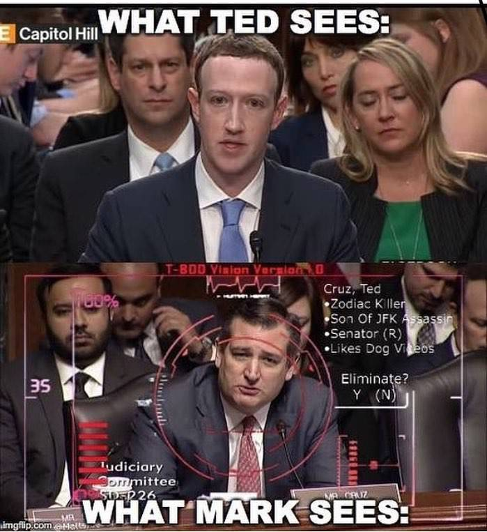 What Ted sees vs what Zuckerberg sees - meme