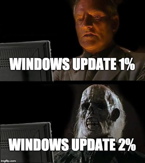 Une mise a jour windows est recommandé. - meme
