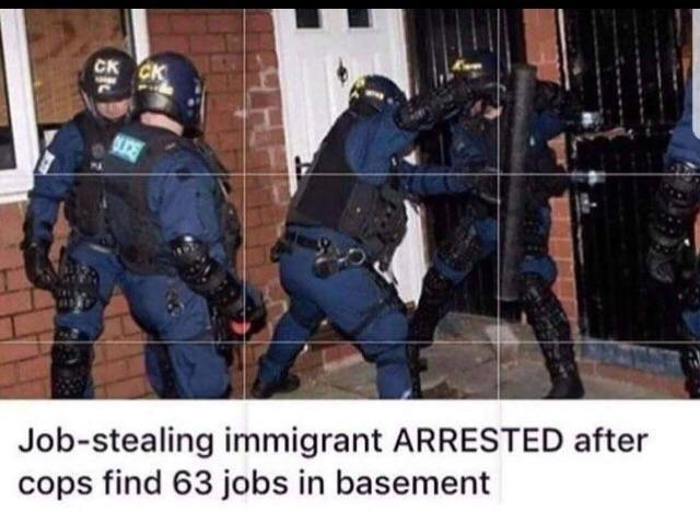 Do inmigrants steal our jobs? - meme