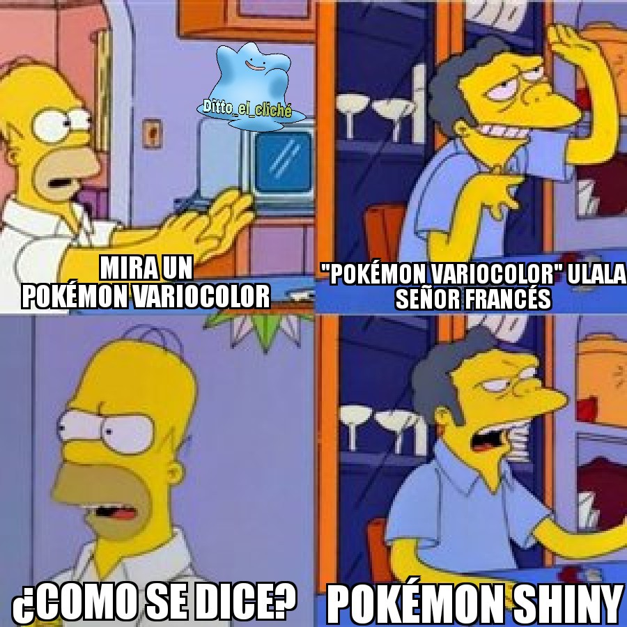 Pokémon variocolor... Siempre me parecio rara la palabra - meme
