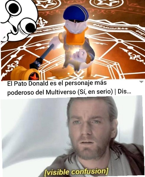 El pato donald es el personaje más poderoso del multiverso - meme