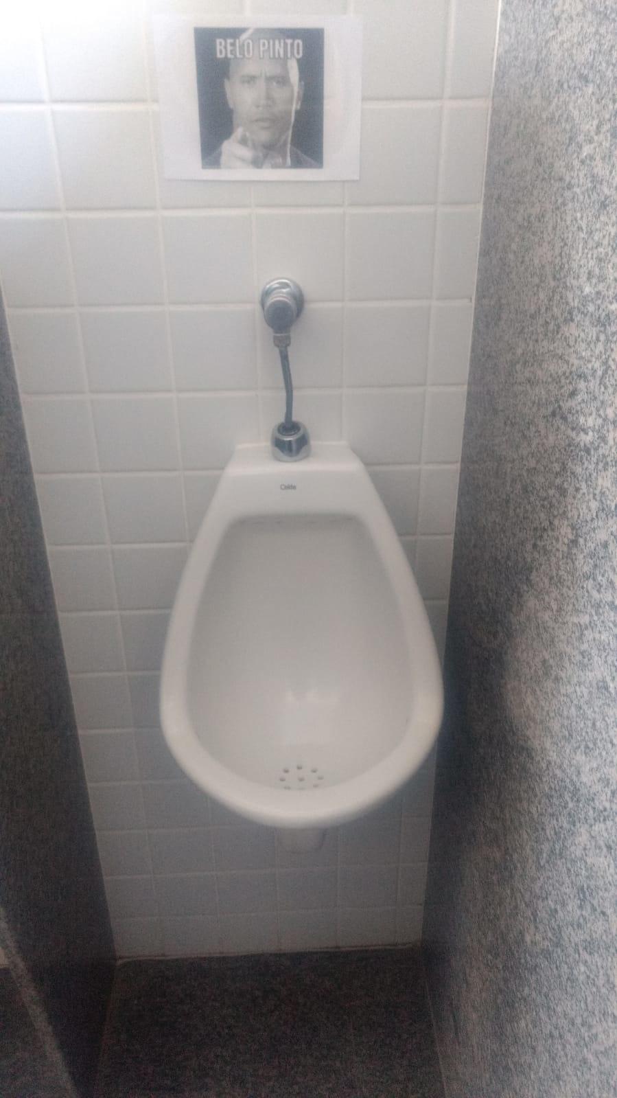Banheiro masculino em locais públicos - meme