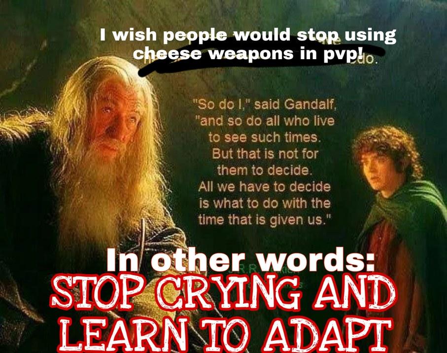 Gandalf don't play - meme