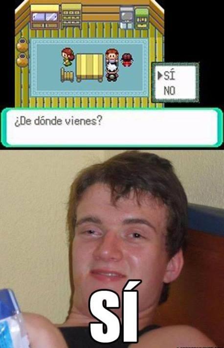 comenta si pasaste por este lugar de pokemon XD - meme