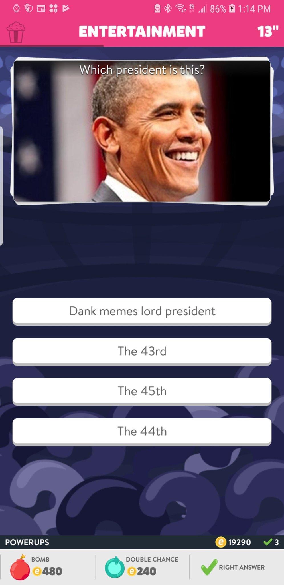God damn, trivia crack. - meme