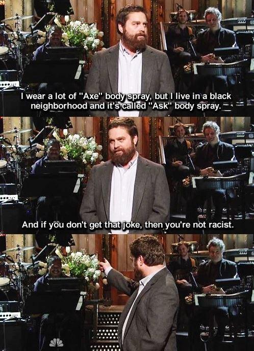 I wonder if he puts Axe in his manly lumberjack beard... - meme