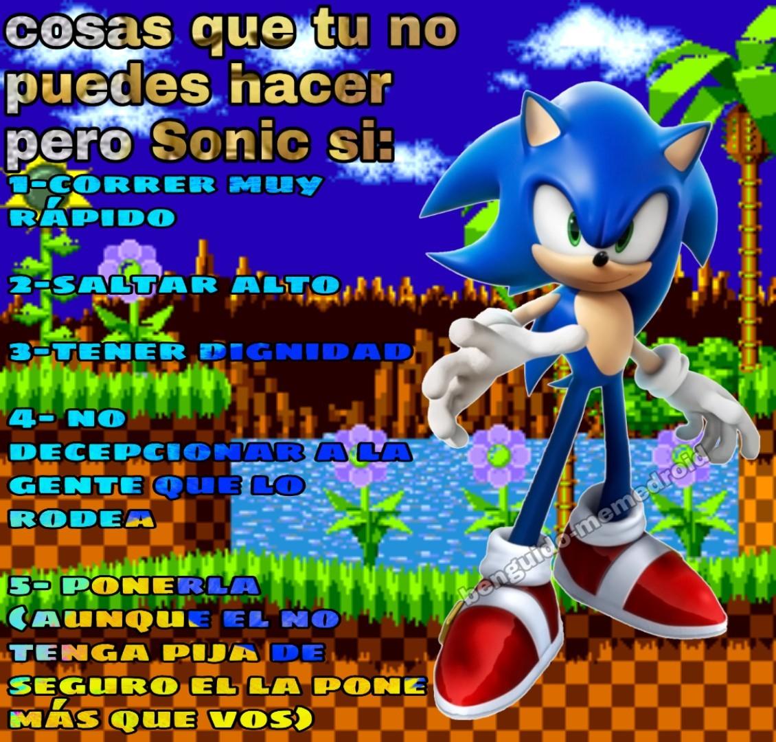 Alto crack el Sonic - meme