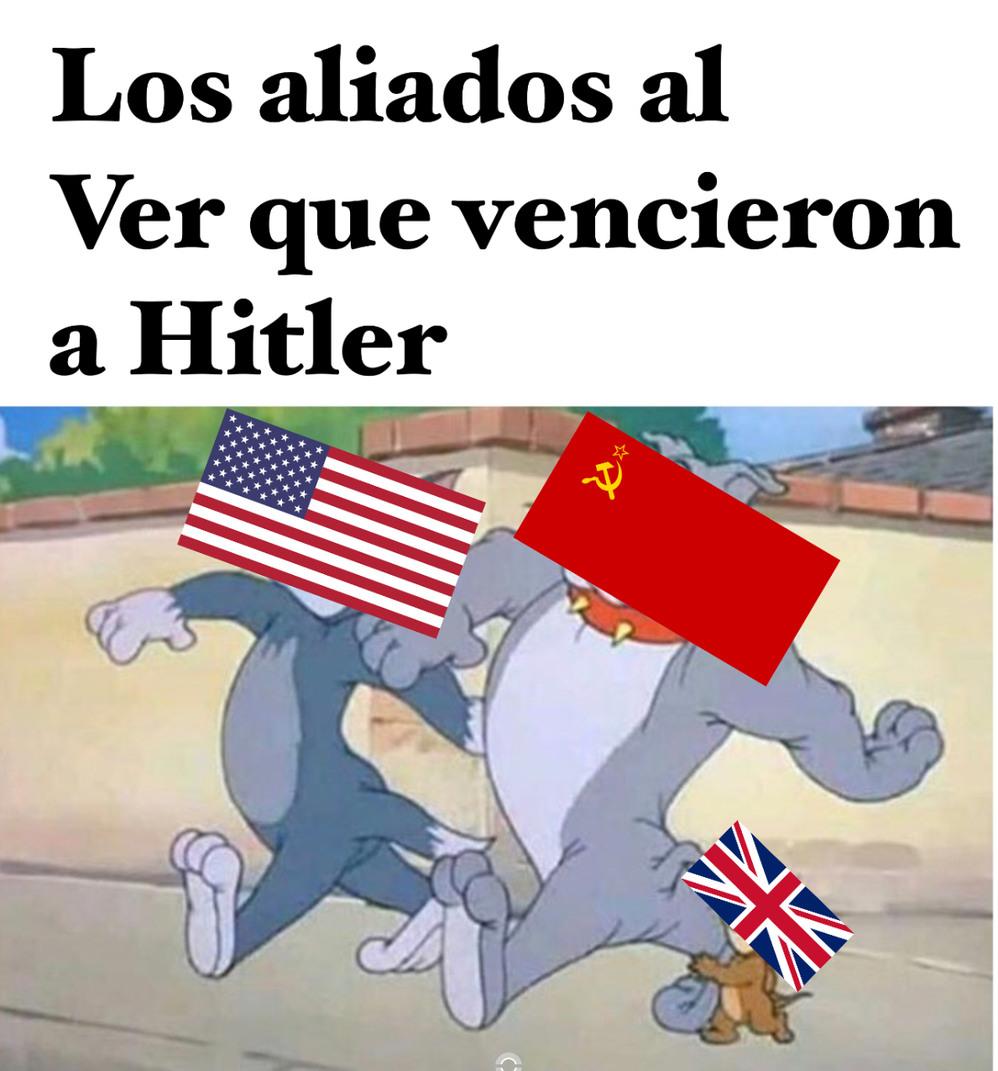 La segunda guerra mundial - meme