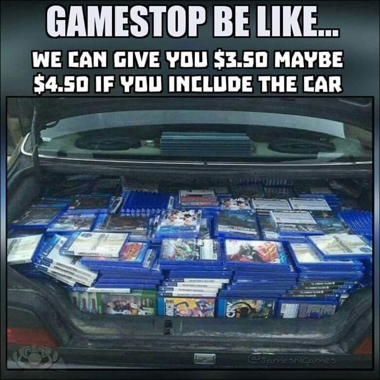 Game stop - meme