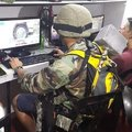Soldier playing cod