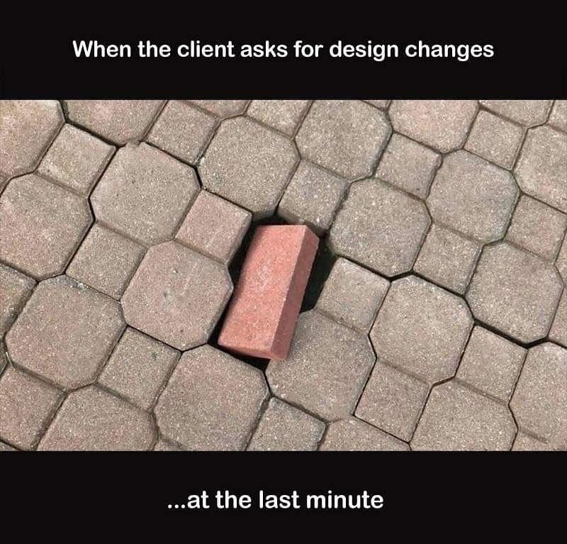 Design changes - meme