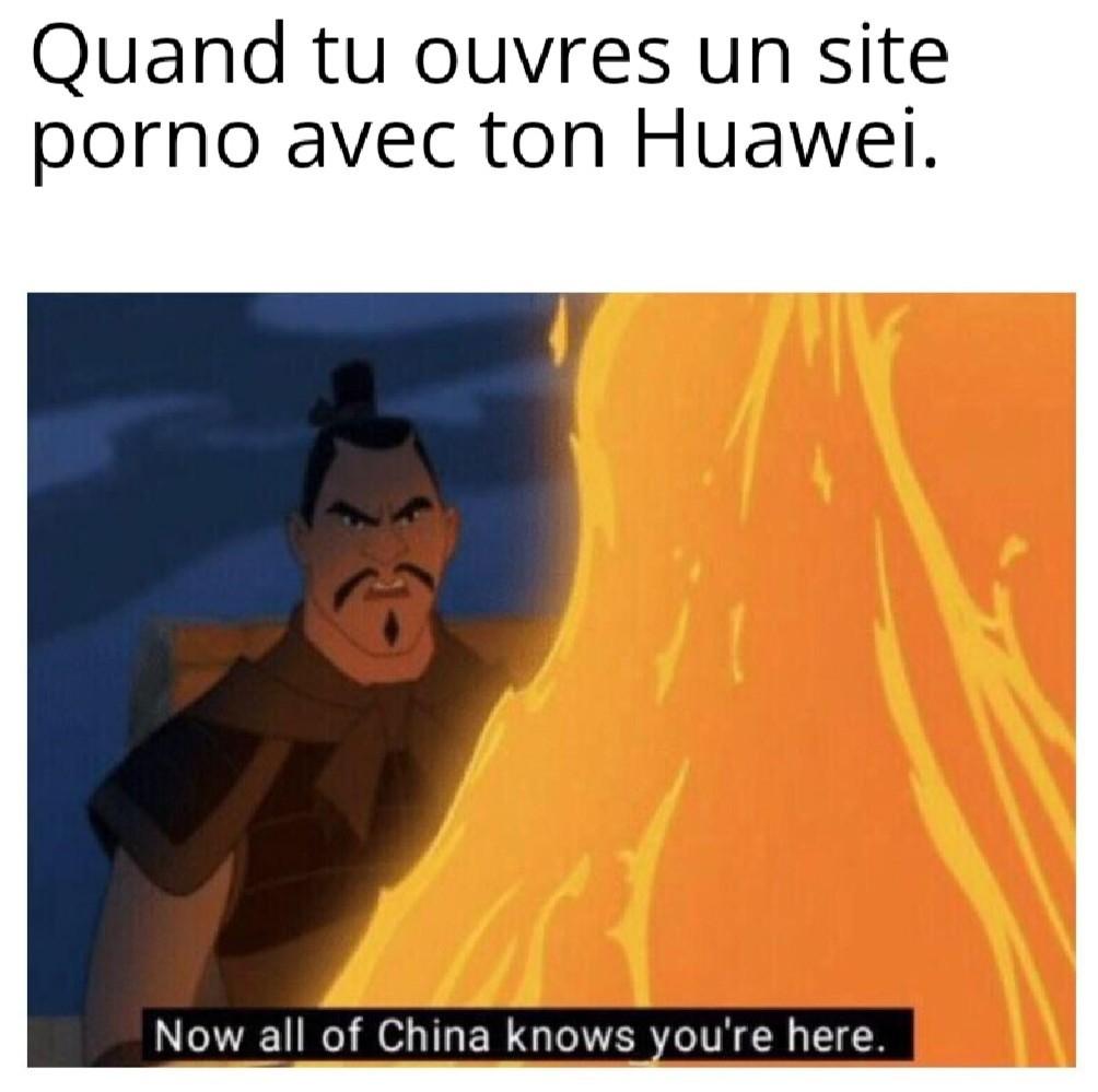 """""""Maintenant toute la Chine sait que tu es ici"""" - meme"""