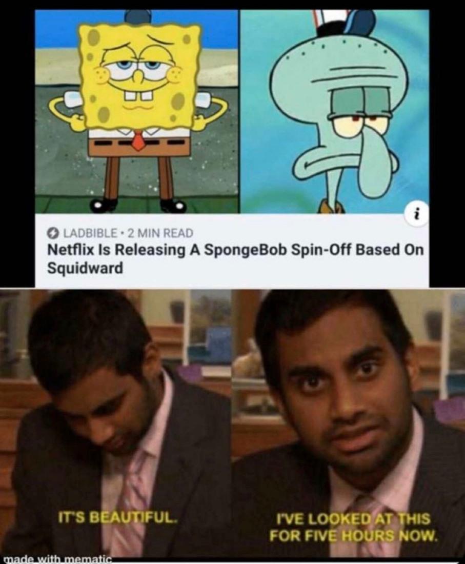 Maybe we finally get to see squids peen? - meme