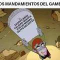 LOS MANDAMIENTOS DEL GAMER