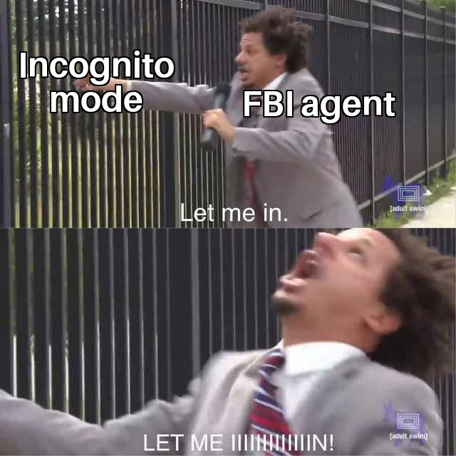 Only Cool People Enter Incognito Mode - meme