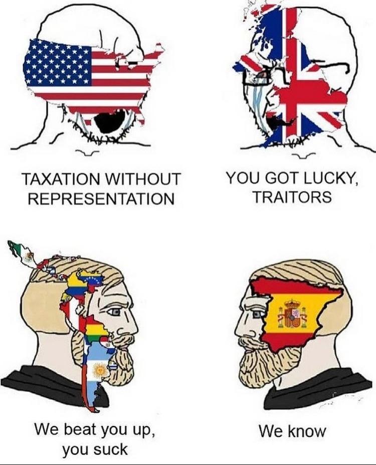 South America vs Spain - meme