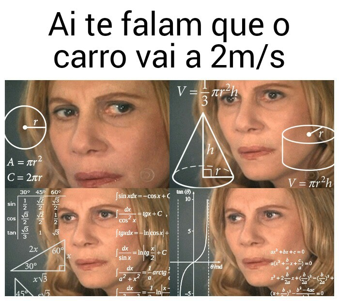 Cálculos avançados - meme