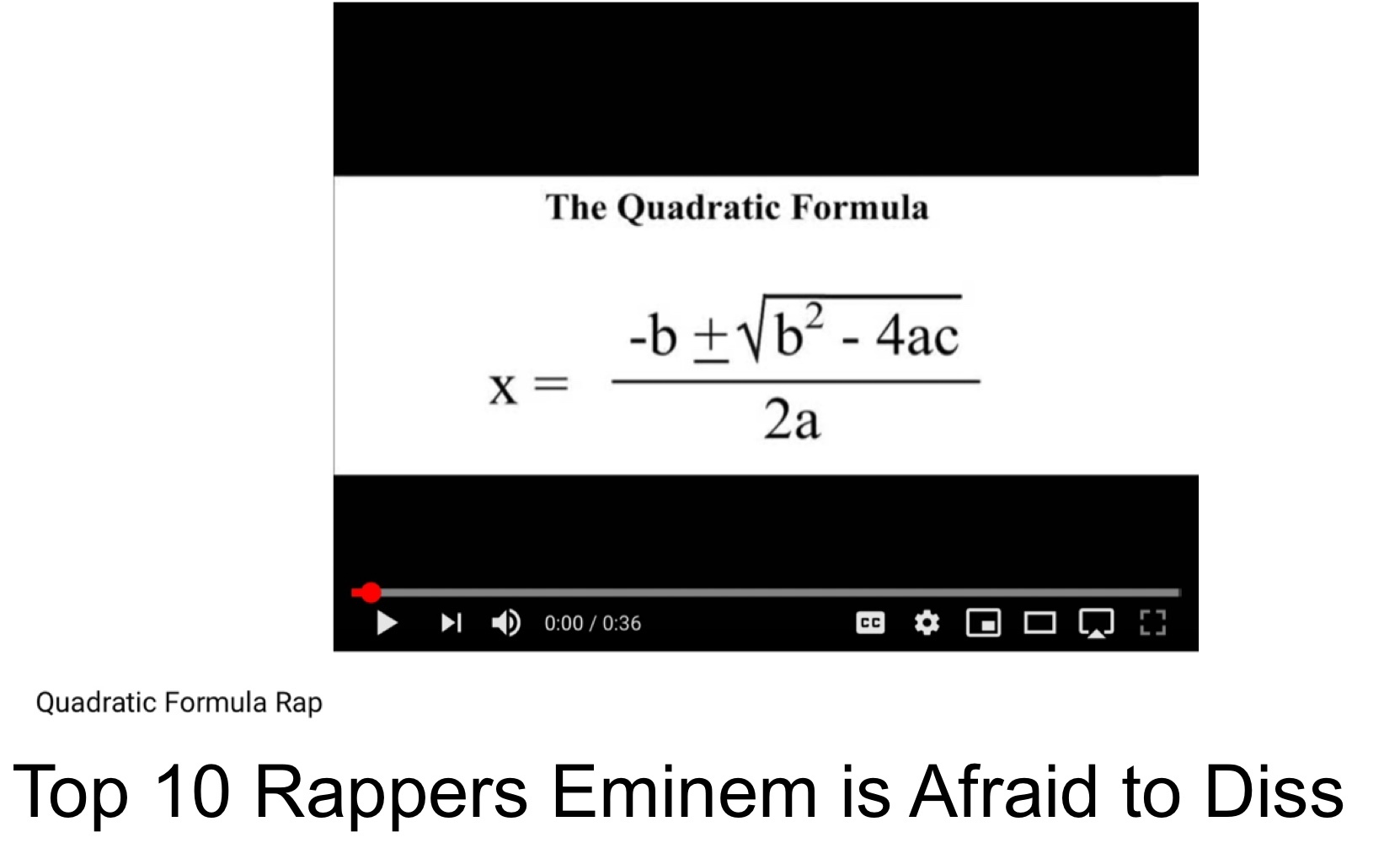 Top 10 Rappers Eminem is Afraid to Diss - meme