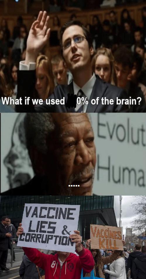 Le vaccin, c'est le bien ou le mal ? Parce que dans un sens c'est bien pour l'immunité contre les maladies mais la piqure fait mal donc c'est bien ou mal ? - meme