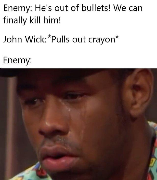 Nobody can kill John Wick - meme