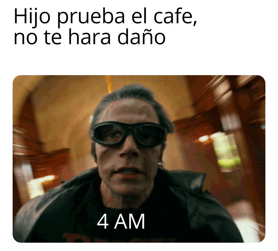 Niños no tomeis cafe - meme