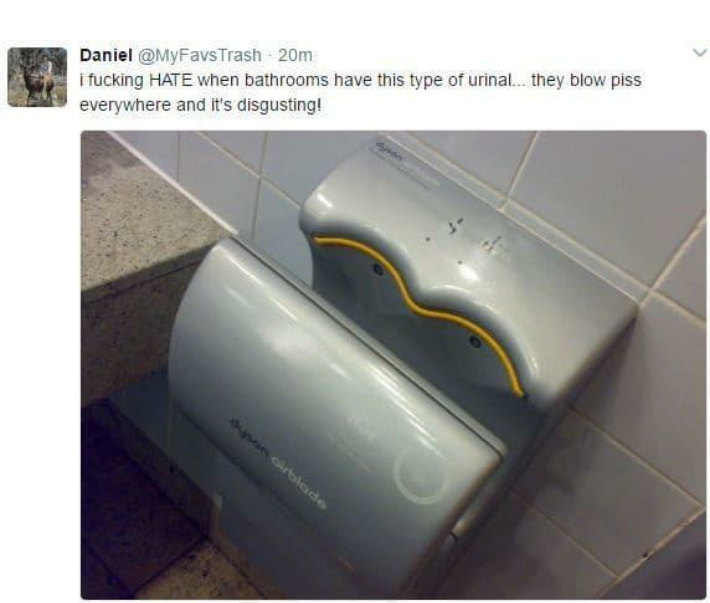 I hate those urinals too - meme