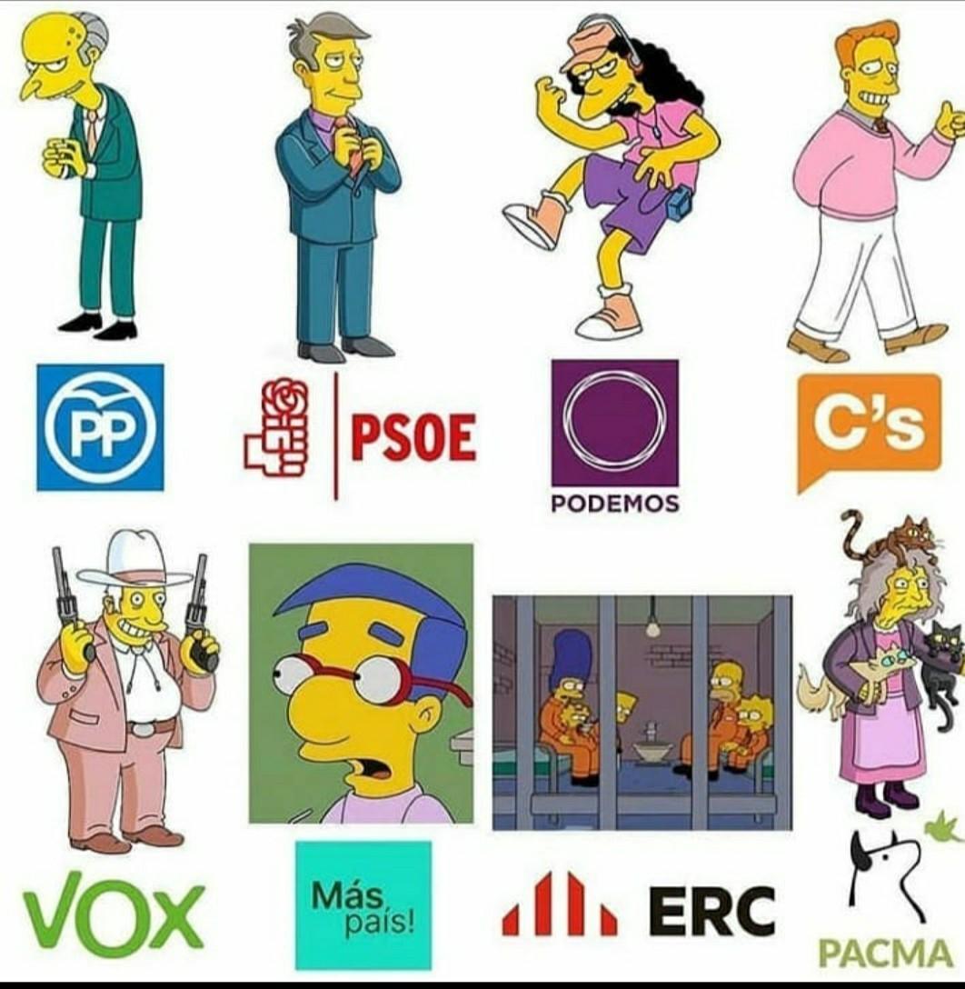 Elecciones en españita - meme