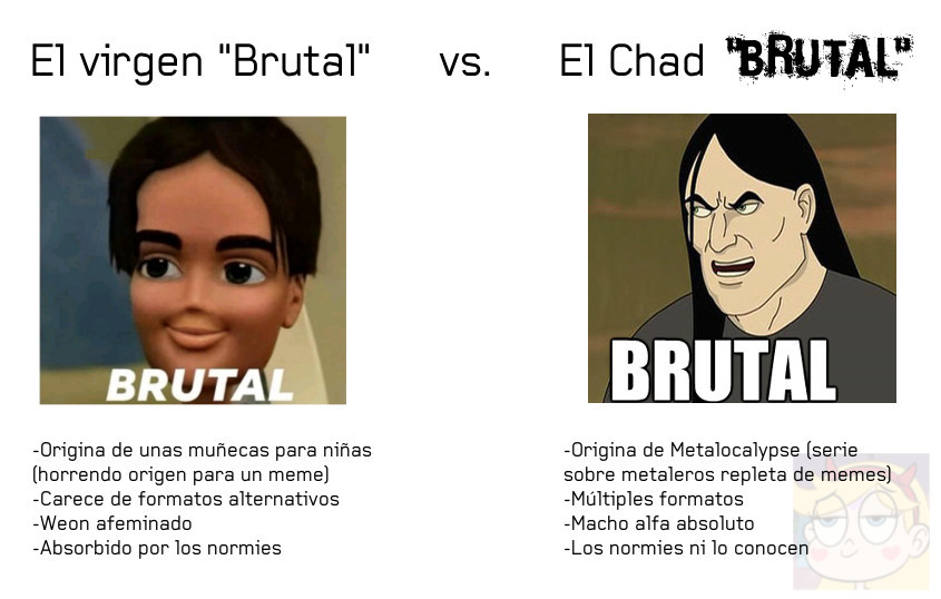 "El verdadero ""Brutal"" es irreemplazable - meme"