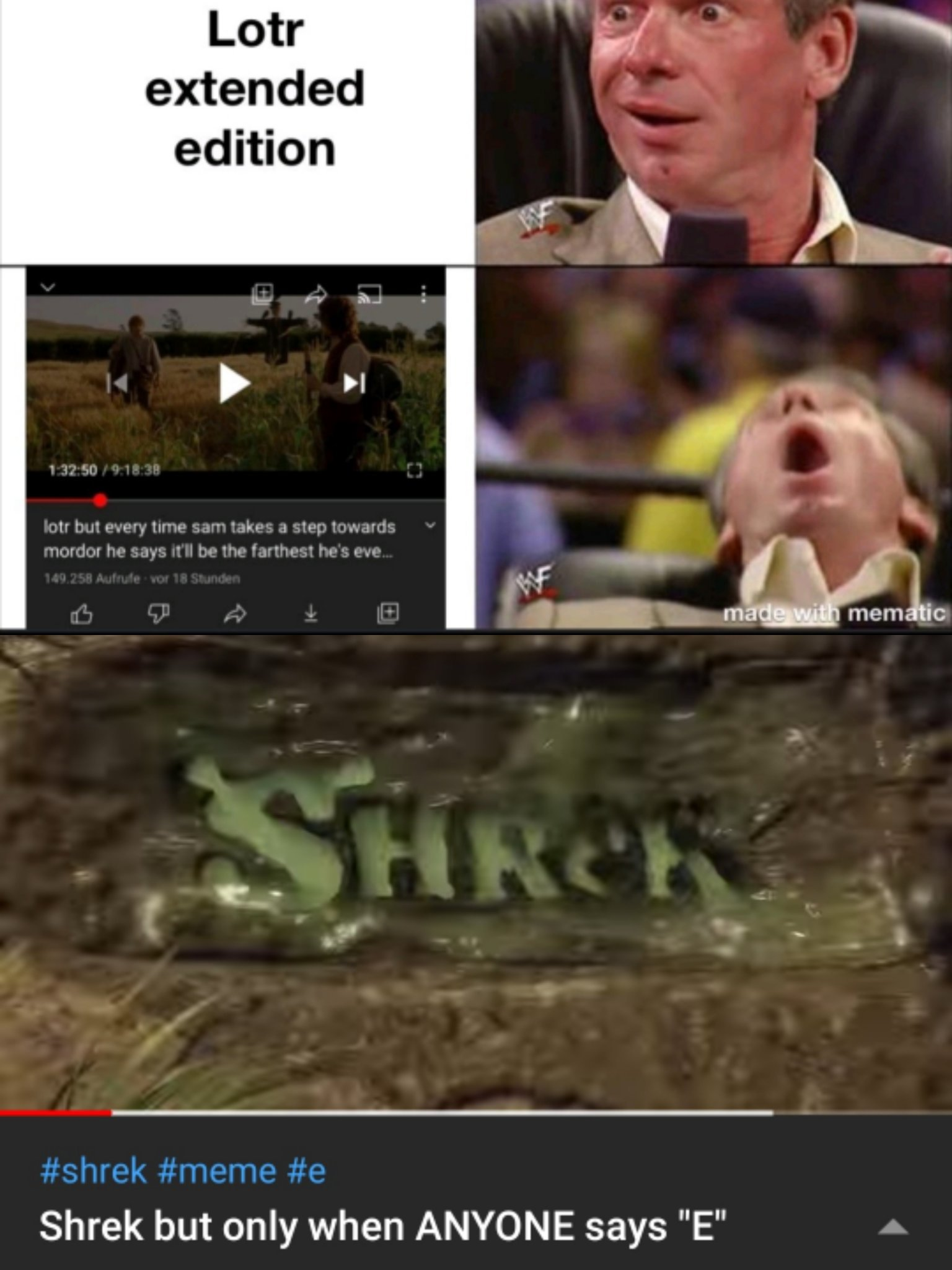 I raise you Shrek, let the battle continue... - meme