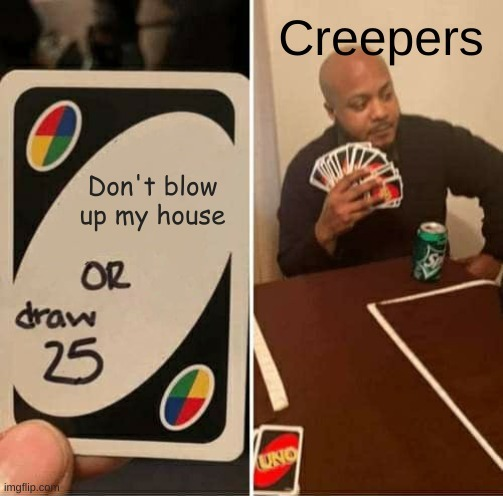 Creeper aww man - meme