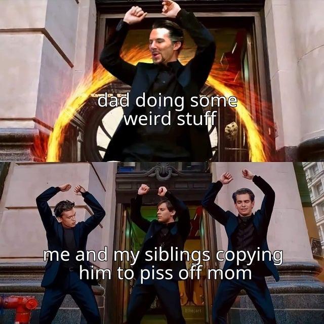 Dad doing some weird stuff - meme