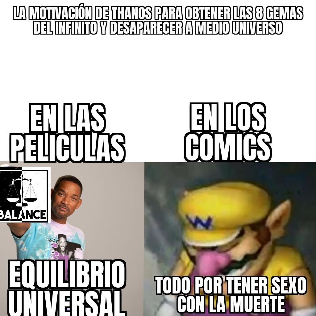 El simp del infinito - meme