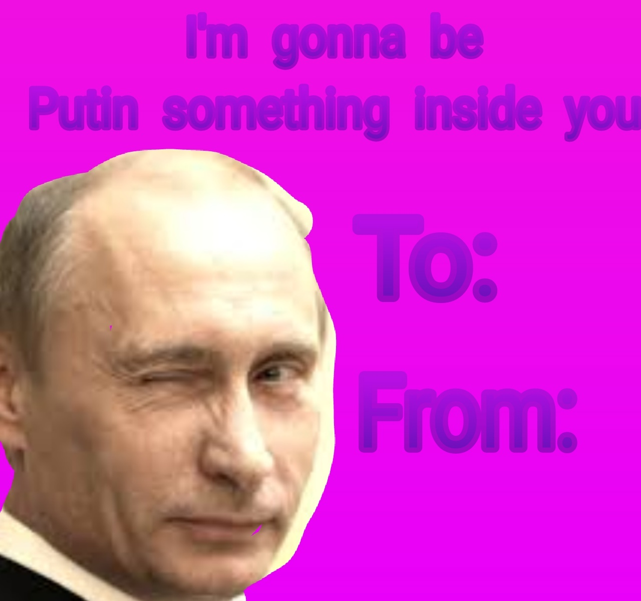 Happy Valentine's card - meme