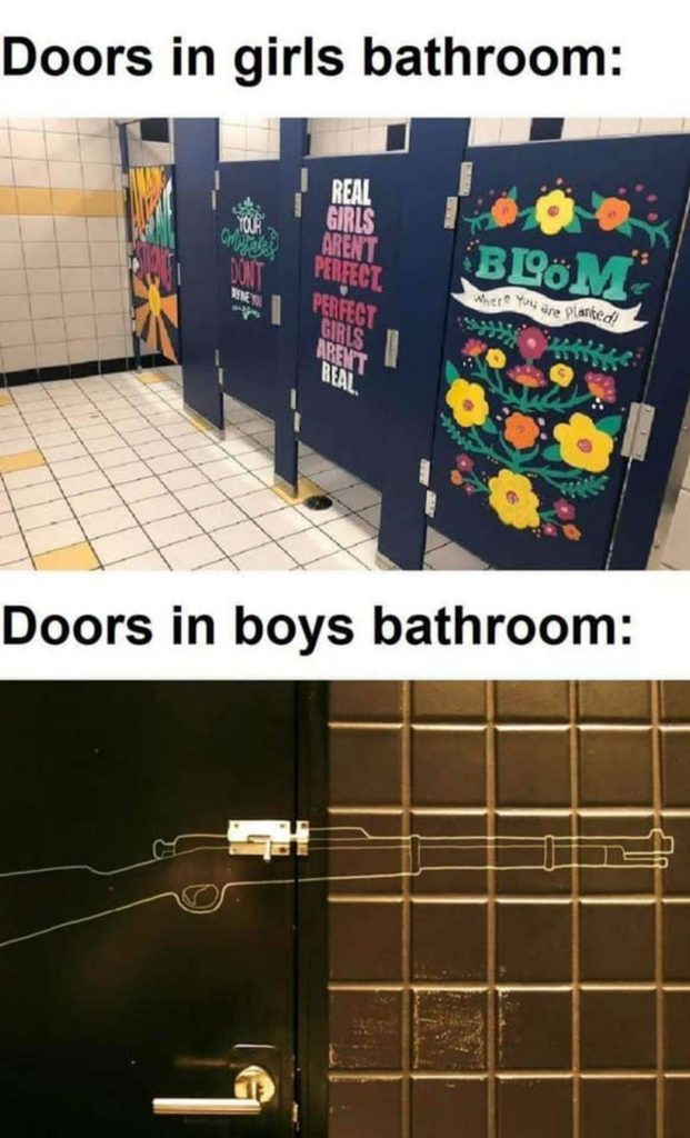 Bathroom doors | gagbee.com - meme