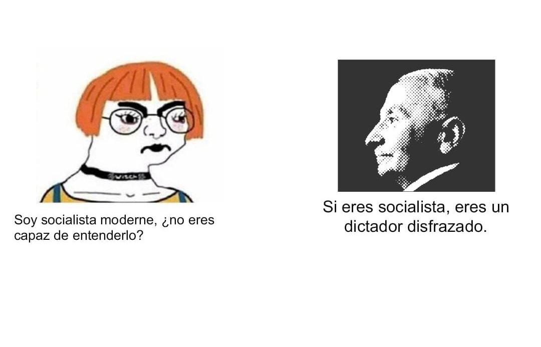 Contexto: el de la izquierda es un liberal llamado Ludwig Von Mises. - meme