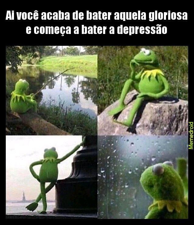 Depressao pós punheta is real - meme