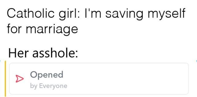 I'm saving myself for marriage - meme