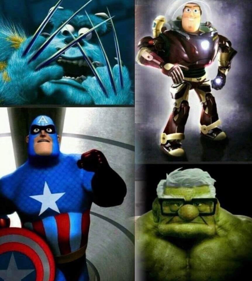 Disney avengers - meme