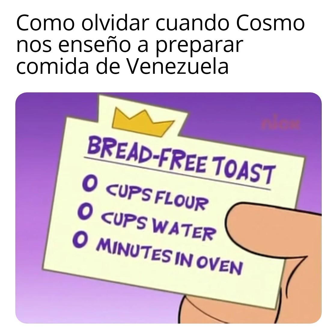 Platillo nacional venezolano - meme