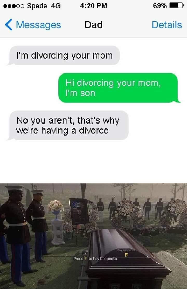 Big F please - meme