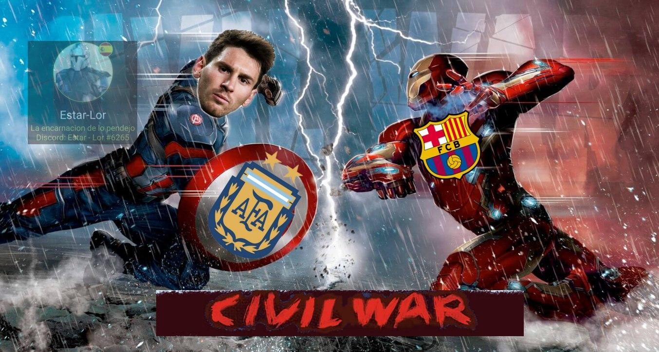 Explicación: Messi se quiere ir del FC Barcelona y el equipo no quiere que Messi se vaya - meme