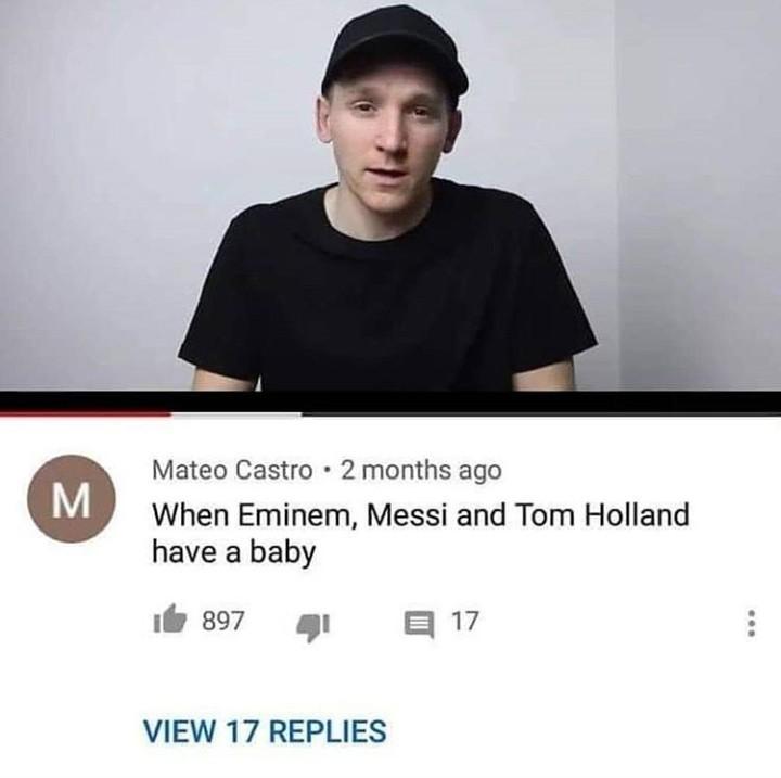 Eminem Holland Messi Junior - meme